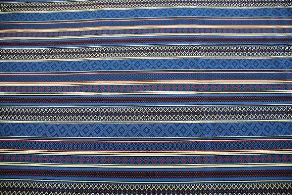 RUSSIAN TRADITIONAL / STITCHED STRIPE-BLUERICH REDの写真